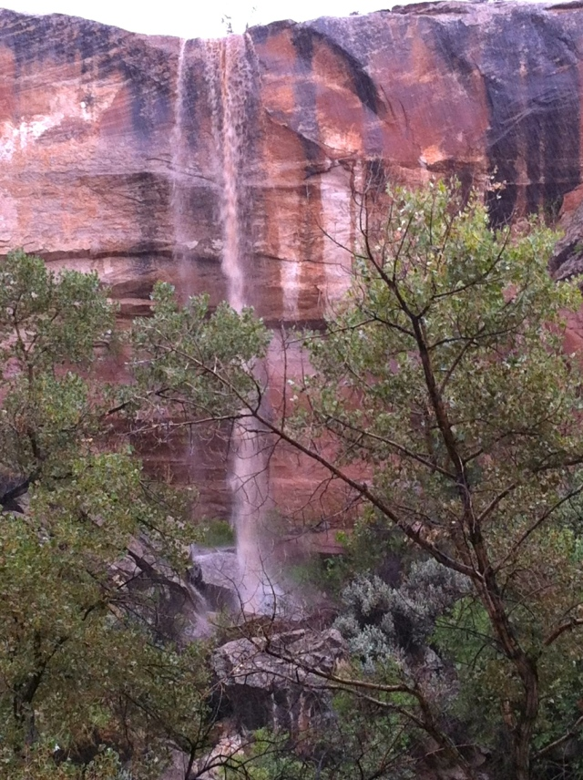 Pour-off Waterfall, Bluff Utah